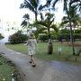 3日目の午前中は朝食後に、ホテルのプールとビーチに出てみます。