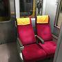 vol.4の終わりから続き  高雄から台南への列車に乗りました。 切符の「無座」の文字にがーんってなってましたNecoですが、簡単には諦めません〜  全席指定なんですけど、とりあえず空いている席に座りました→席の主が来て退散・・×3回  どよ〜ん 笑  諦めかけて車両移動しようとしたその時、なぜか二つだけのシートが連結部にある〜 (写真は降りるときに撮ったんですが・・)おじさまが先に座っていて、「あのー、隣空いてますか?」と聞くと「はい、どうぞ」と。  深々お礼を言って隣に腰掛けると、
