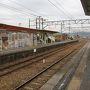 ●名鉄 明智駅  バスで明智駅まで戻って来ました。 ここから、犬山へ移動です。