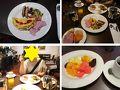 2月19日の朝食です ホテルのレストランでオムレツを作ってもらいハムやソーセージといただきます 勿論フルーツも生野菜感覚で頂いちゃいます!