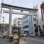 ●上宮天満宮@阪急高槻市駅界隈  駅の近くにあった鳥居。 前々から気になっていました。