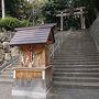 ●上宮天満宮@阪急高槻市駅界隈  信号を渡り、境内に入っていきます。