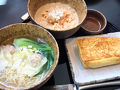 担々麺、ワンタン麺、フレンチトーストを頂きました♪
