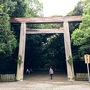 名鉄の神宮前駅を降りて、あつた蓬莱軒に行くには、熱田神宮の東門から南門に抜けるのが1番の近道。