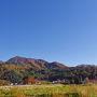 途中の紅葉の風景