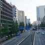 ●銀座界隈  まだ早朝のせいか、交通量が少ないです。