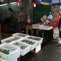 大澳は漁師町なので、海産物のお店がたくさんありました。 干物のお店も多くて店先で炙って試食させてたりとか。が、実は宿をとってる西環あたりもそういうお店多かったんだよね〜。 魚は検疫ないしお土産に買おうかなと思いつつ結局買わなかった……。