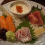 ●京の都 庄屋@烏丸七条  生ゆばと鮮魚三種もり 1100円(税別)。 最高の内容なんですけど…。