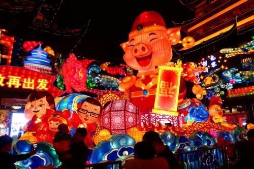 1歳4か月の娘と旧正月上海2★豬年快楽!ランタンフェスティバル ~豫園新春民俗芸術灯会~