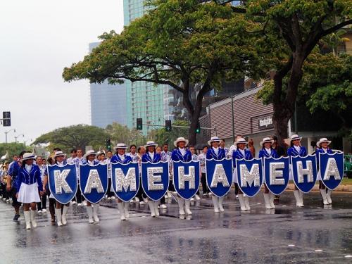 201706突然ハワイ!六日目 カメハメハデーのパレードに見惚れる