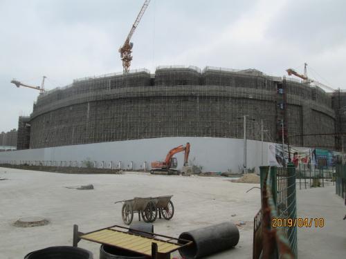 上海の陳翔印象城・巨大モール・陳翔路駅・再開発工事中