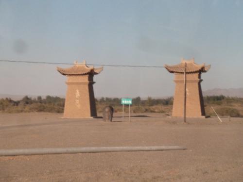 中国・甘粛省敦煌 砂漠の最前線へ行く