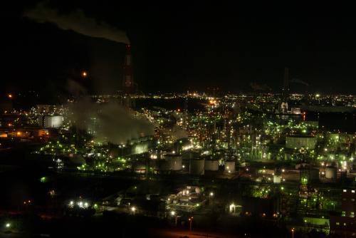 四日市の工場夜景と常滑散策の旅