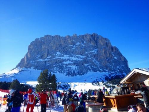 ⑤ドロミテスキー 「セラロンダ」は一日かけて滑るのが世界のスキーヤーの夢