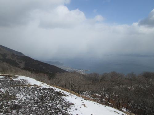 比良山系 権現山と蓬莱山 天候変化の激しさは高山のようです