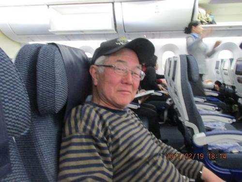 江南周遊(79・最終)帰国の機内で。