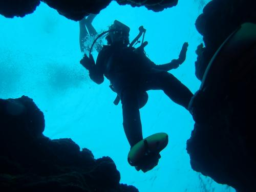 GoTo島へ 濃厚な宮古島、地形ダイブに離島訪問