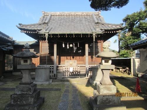 流山市の鰭ヶ崎・雷神社・流山100か所めぐり(89)・石仏