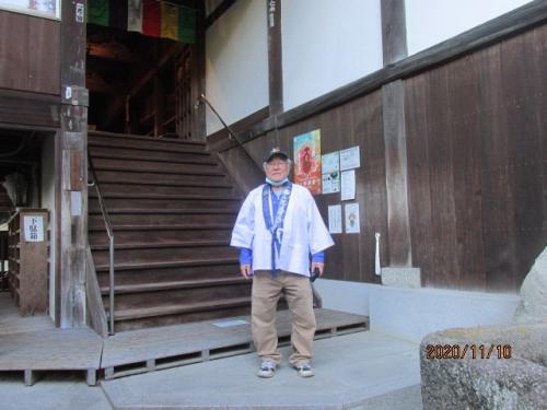 四国霊場最後の巡礼(16)大本山弥谷寺大師堂に参拝。