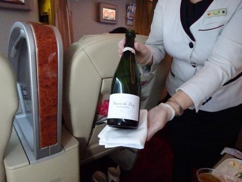 シャンパンな空の旅2021 当日UGで往路F席 HND-OKA