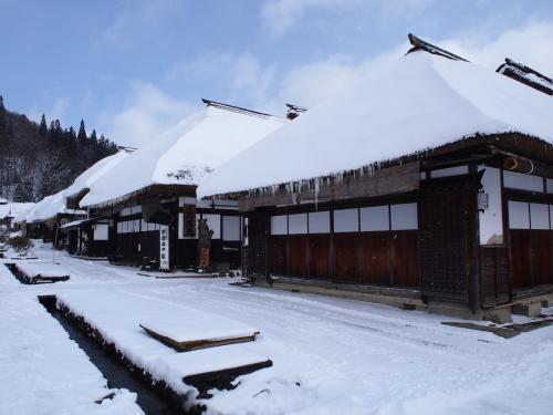 GoToトラベルは再開されないけど、冬の大内宿へ行ってきました(^^;)