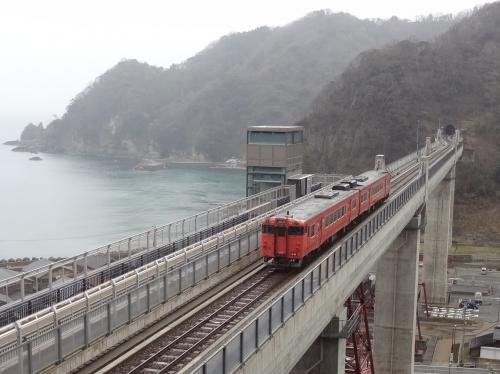 西日本ASBR乗りまくり&蟹,河豚食旅・その4.山陰本線'余部橋梁'を散策しよう。