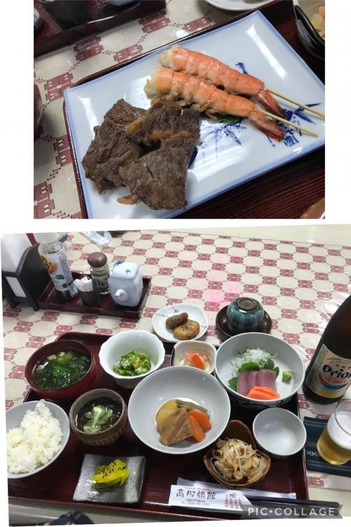 3泊4日。その1。石垣島からフェリーで竹富島へ。料理が美味しいと高評価の宿、高那旅館に1泊2食付き。