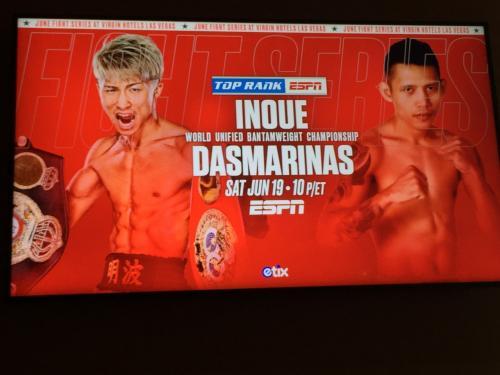 ネバダ州 ラスベガス - 井上尚弥vsダスマリナス戦を新しいバージンホテルの会場で観戦