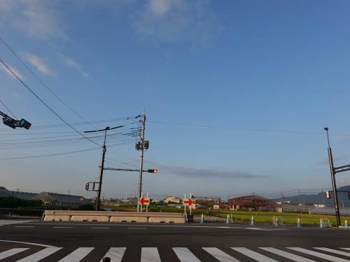 自転車でGO!早朝バージョン&ポタリング富士市内(20)新しい道路(本市場・大渕線の一部)開通前後 2021.09.11/16第3回9/16