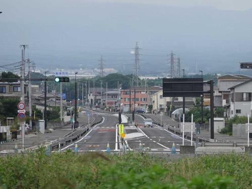 早朝散歩・新しい道路(本市場・大渕線の一部)開通・前後 2021.09.11~16 =第2回(9/14)=
