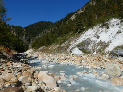 秋の北アルプス、ダム巡り2021 高瀬ダム編~高瀬渓谷・湯俣の噴湯丘~