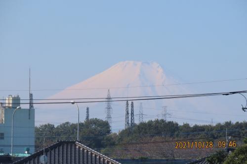10月28日見られた富士山
