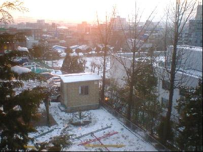 2004年、初雪@西仁川