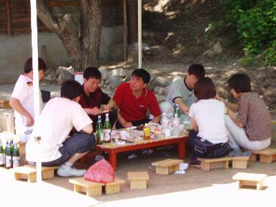 2004年 6.1児童節 会社の同僚とバーベキュー