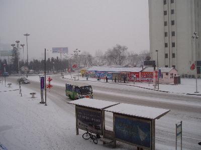 2005年2月 雪の降る延吉 (1) ロシア・韓国を結ぶ客船東春航運について