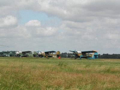 初のパラシュート ウクライナの空