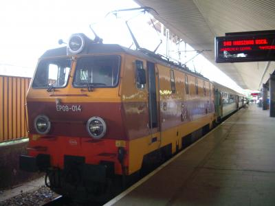 列車-クラクフ駅