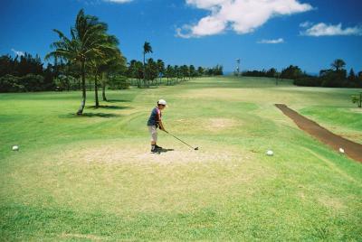 カウアイ島でゴルフ