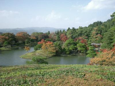 修学院離宮の紅葉と池を堪能しました