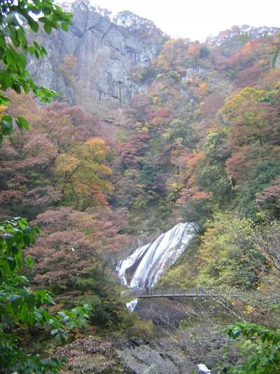 袋田の滝の紅葉