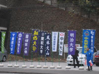 2006年・第82回箱根駅伝大会 保土ヶ谷宿で応援 頑張れ!