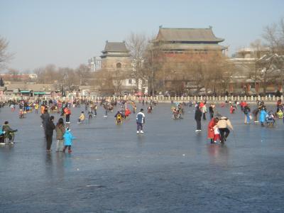 北京真冬の散歩道