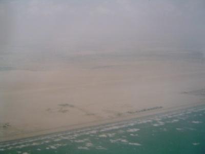 アラブ首長国連邦の旅 空の旅 インド洋の旅