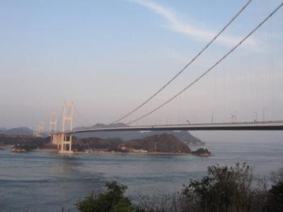 糸山公園と来島海峡大橋