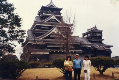 熊本城でのうれしい再会(一人で九州を後ラン?)