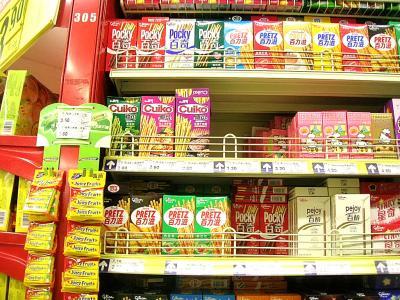 上海のスーパー、コンビニの日本的なモノ