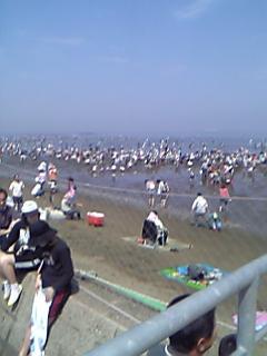 おっさん三人で潮干狩りー富津海岸