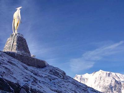 2001年スイスの旅(13)モンテローザとモンテモロ峠越え