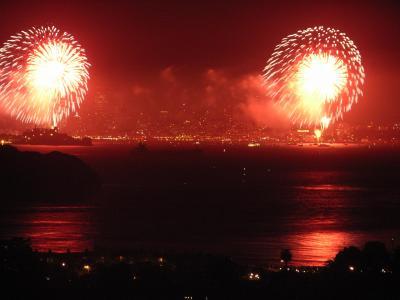 2006独立記念日SFの花火  ☆サンフランシスコ・ベイエリア紀行(3)☆