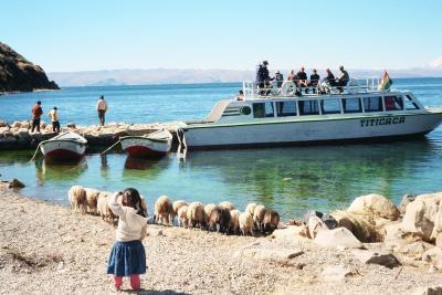 南米周遊旅行 ペルー チチカカ湖